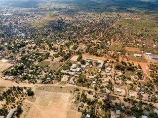 Luftbild (aufgenommen mit einer Drohne) von Metarica und den Gebäuden bzw. Einrichtungen der Ordensgemeinschaft. Foto: Florian Kopp