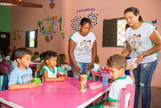 Frühstückspause im Kindergarten Santa Maria Madelana Postel in Balsas. (Foto: SMMP/Ulrich Bock)